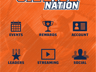 Orange Nation App Home Screen