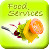 Food Services icon - fork with salad