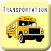Transportation button with yellow school bus